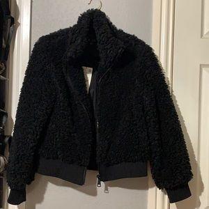 NWT black Zara soft Sherpa jacket
